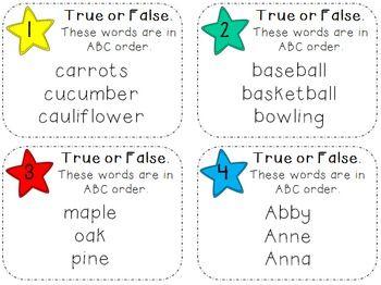 ... ABC Order | Alphabet / ABC Order | Pinterest | Activities, Homework