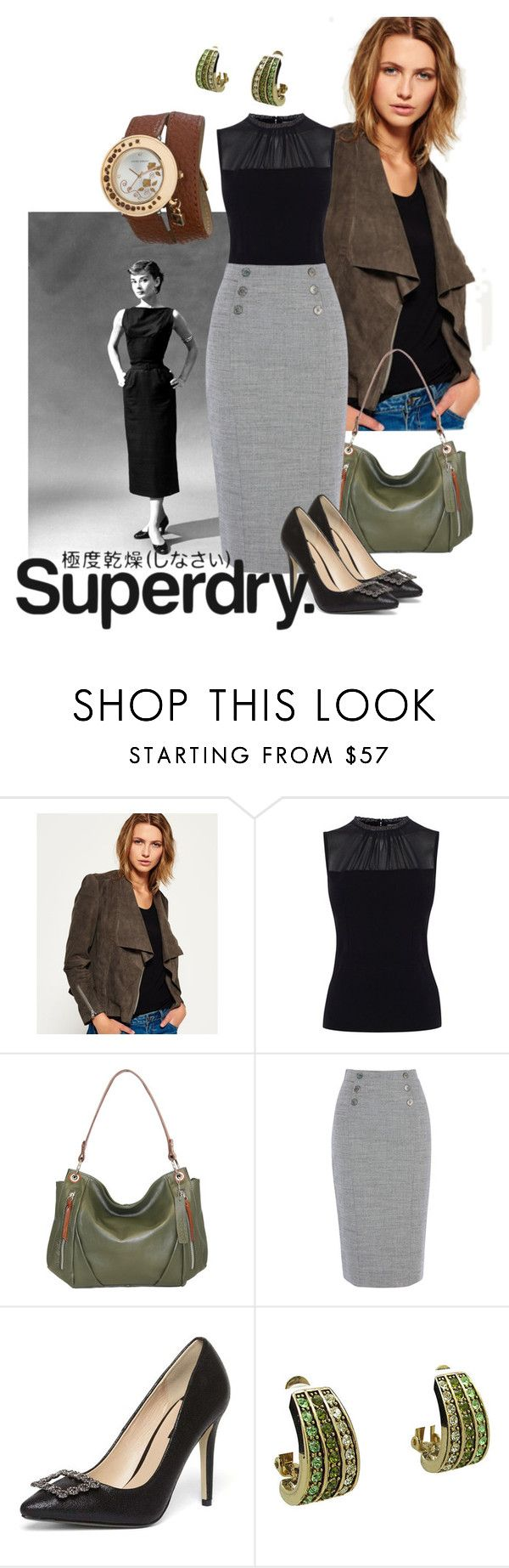 """""""Somewhat unstructured"""" by maria-kuroshchepova ❤ liked on Polyvore featuring Superdry, Karen Millen, Nino Bossi Handbags, Dorothy Perkins, Laura Ashley and MySuperdry"""