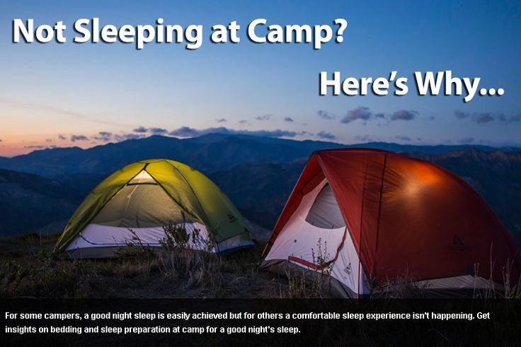 Are You Not Sleeping at Camp?   Camping, Good night sleep ...