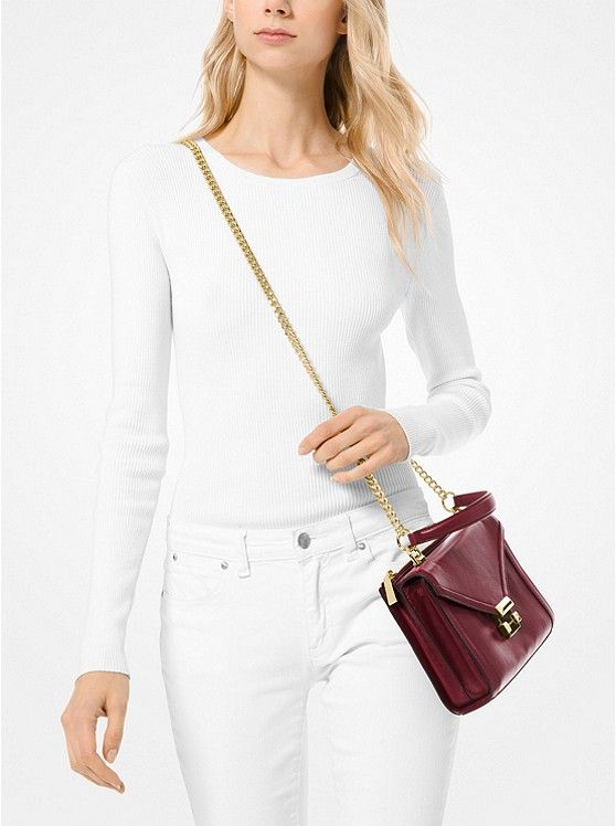 6b5479e2940a Whitney Small Leather Convertible Shoulder Bag $278 | Elevated: Arm ...