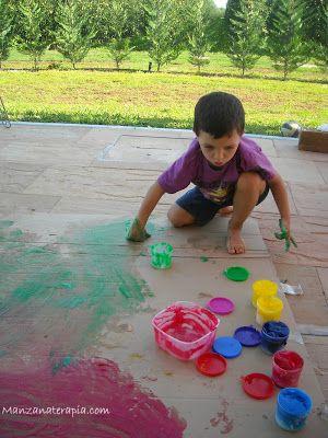 Pintura comestible niños