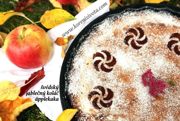 Švédský jablečný koláč äppelkaka dle tradičního jednoduchého receptu vás překvapí vláčností těsta a chutí jablek, která naprosto vynikne bez použití koření.