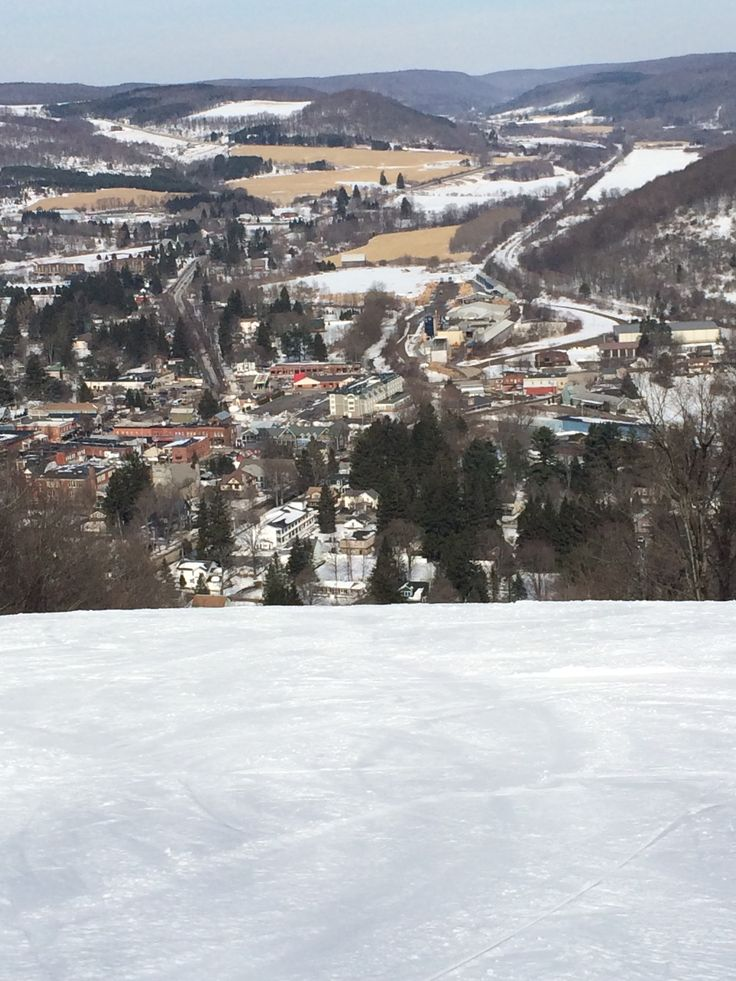 The town of Ellicotville from the hill