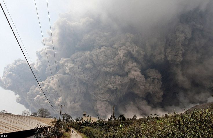 Mt Sinabung eruption in Sumatra. Deadly Lava and pyroclastic flows have spread from the volcano, killing people up to two miles away