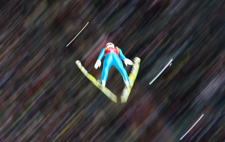 Maciej Kot of Poland jumps during the Men's Team Ski Jumping first round (c) Getty Images