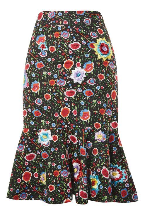 Ruffle Midi Skirt by Prints by Mochi for Topshop