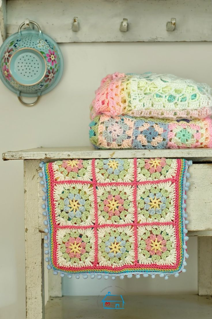 @ niebieska chata - always lovely coloured crochet work at this blog
