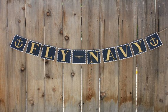This gorgeous banner is useful for so many occasions. Whether your pilot is winging, coming home from deployment, cheering on the Army/Navy game, or
