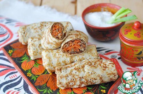 Закусочные блины от невестки - кулинарный рецепт