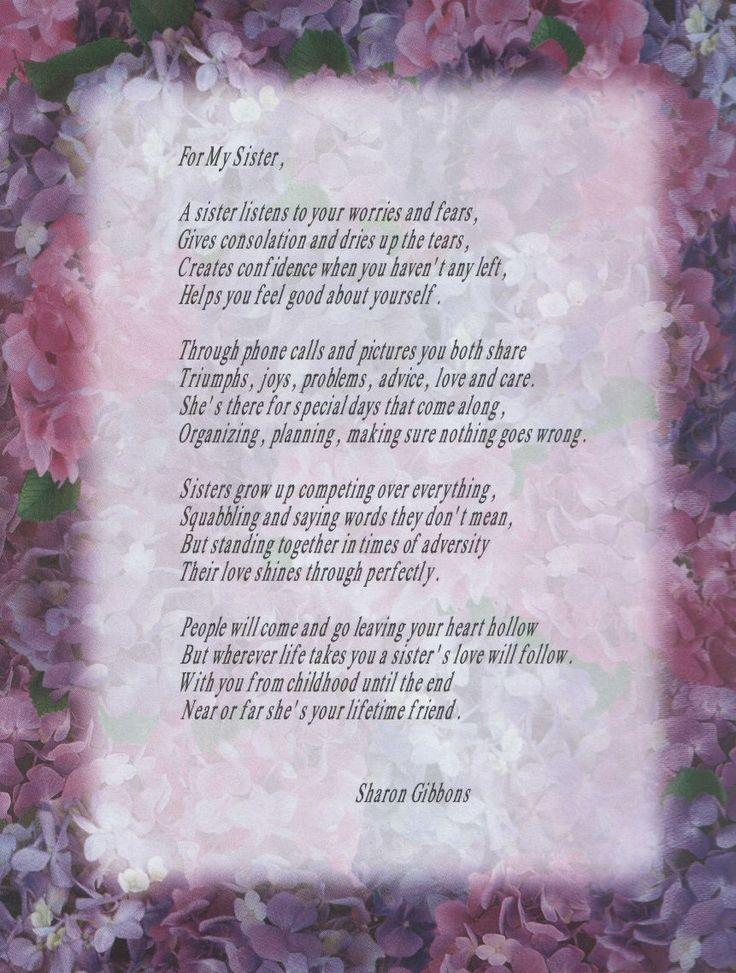 Brother From Sister Poems   Dad Poem Sister Poem