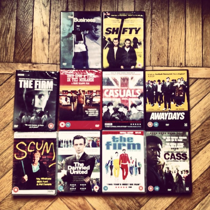 #DVD #CASUALS #THE FIRM # CASS #SCUM #THE DAMNED UNITED #AWAYDAYS #ONCE UPON A TIME IN THE MIDLANDS #THE BUSINESS