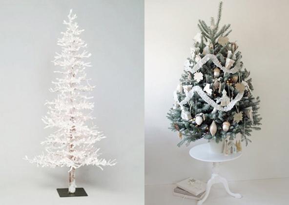 Witte Kerstbomen