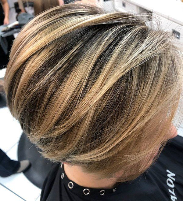 Blonde Highlighted Bob Hair Latest Short Hairstyles For