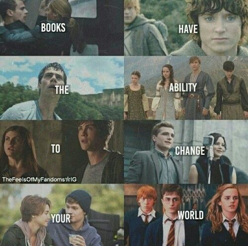 Divergence❤ Lord of the rings❤ The Maze Runner❤ Narnia❤ Percy Jackson❤ Hunger games❤ The fault in our stars❤ Harry Poter❤