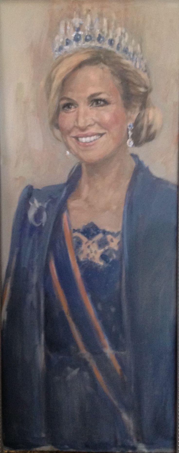 Maxima schilderij door Alide Bouwsema
