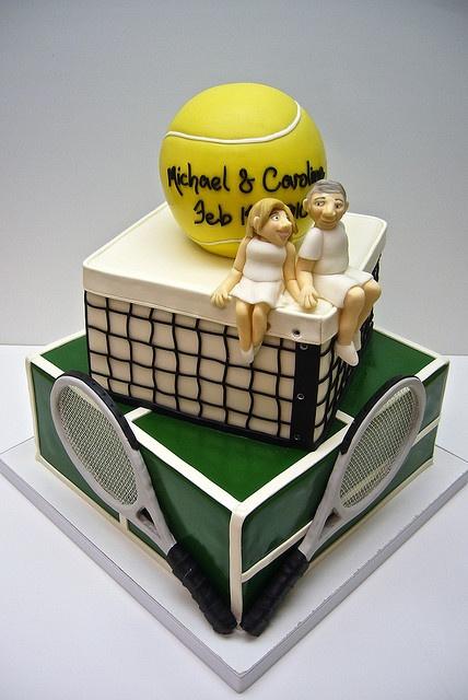 #tennis #cake #wimbledon for your cake making and decorating needs visit www.weddingacrylics.co.uk