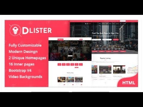 Dlister - Directory Listing HTML Template   Themeforest Templates
