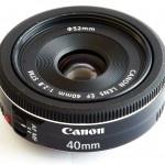 Detalles y precio del lente Canon 40mm f/2.8 Pancake