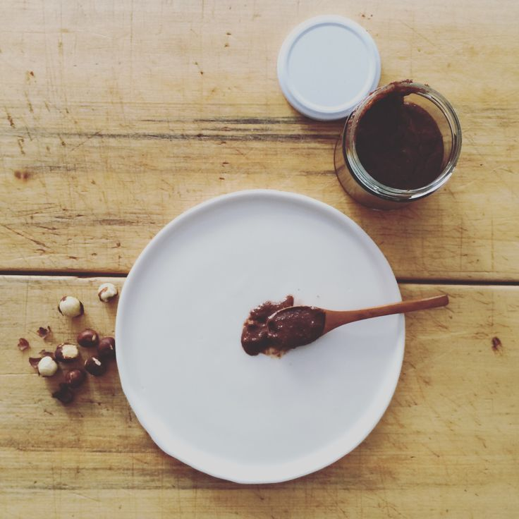 Hazel - choc hazelnut spread. Best served on a spoon.