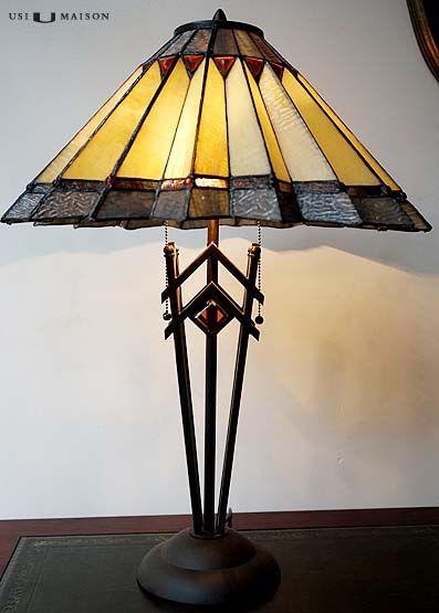 Art deco tiffany tafellamp