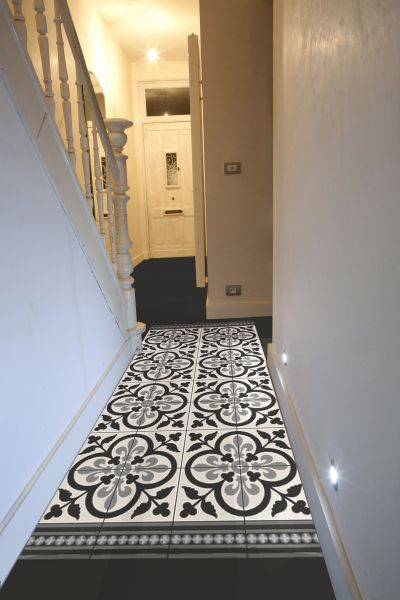 Carrelage ciment couloir entree pinterest carrelage for Carrelage 76