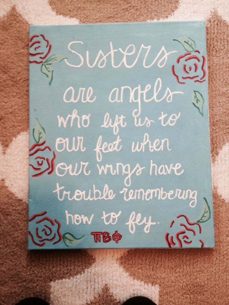 Pi phi quote canvas. Big little