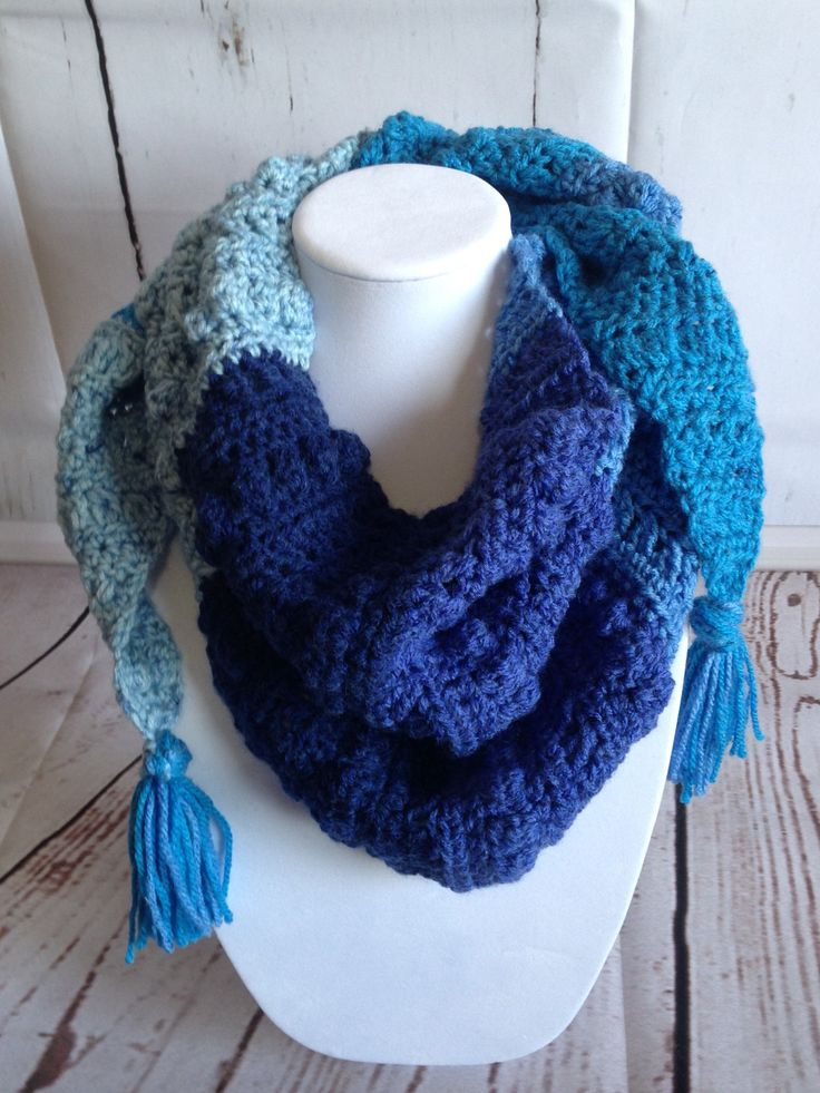 Crochet Scarf - Scarf - Blue Scarf - Summer Scarf - Spring Scarf - Winter Scarf - Womens Scarves - Crochet Wrap - Shawl - Crochet Shawl by StephsFamilyStitches on Etsy https://www.etsy.com/ca/listing/510969835/crochet-scarf-scarf-blue-scarf-summer