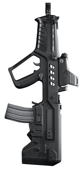 TAR-21 Tavor - 5.56x45mm NATO I got to try one of these yesterday.  Nice tight package, but a bit heavy on the trigger.