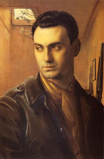 All Things Ruffnerian, a Design Blog and More: 10 Noteworthy Portraits of Men - Pietro Annigoni's portrait of Conti Giancarlo Bossi Pucci - c, 1950