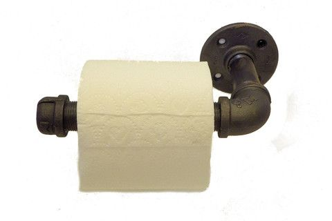 Industrial pipe double roll toilet paper holder toilet roll holder
