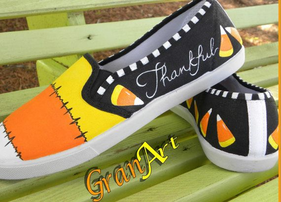 Candy Corn Shoes Design Keds Custom Keds Fall Shoes by GranArt