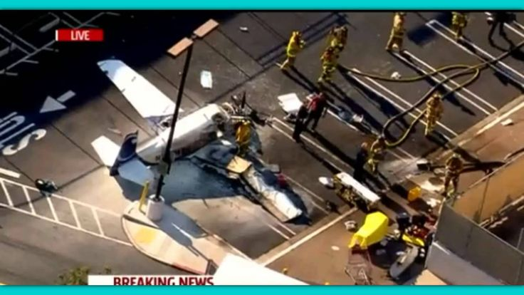 Plane Clips A San Diego Target Store's Roof, Crashes In Parking Lot!