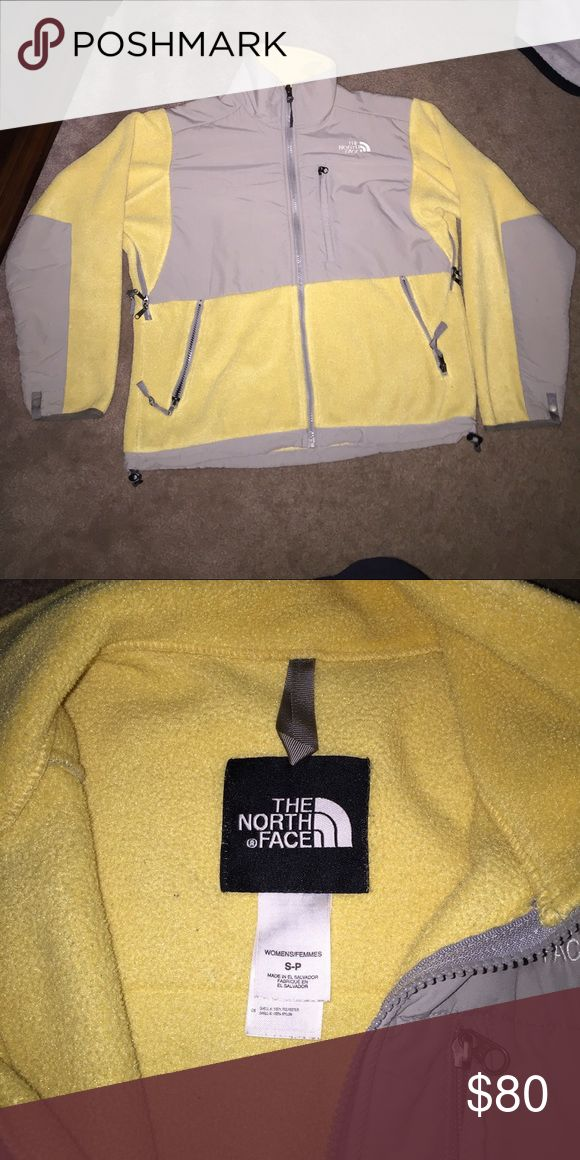 Denali north face coat Yellow and gray north face jacket. Worn but good condition ! The North Face Jackets & Coats
