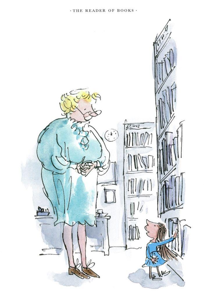Fantastic Libraries | tygertale Roald Dahl and Quentin Blake Matilda