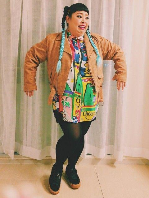ぽっちゃりさんにおすすめ!渡辺直美に学ぶタッキーコーデ。タッキースタイルコーデ☆参考にしたいスタイル・ファッションのアイデア♪