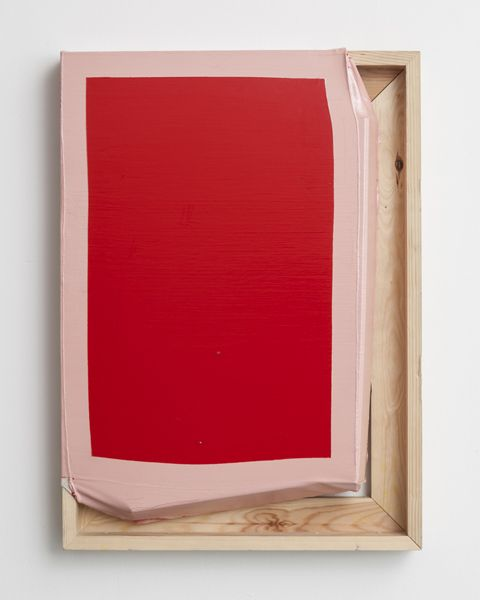 Tight (Red/Pink), 2013 © Angela de la Cruz / ARS, courtesy Wetterling Gallery