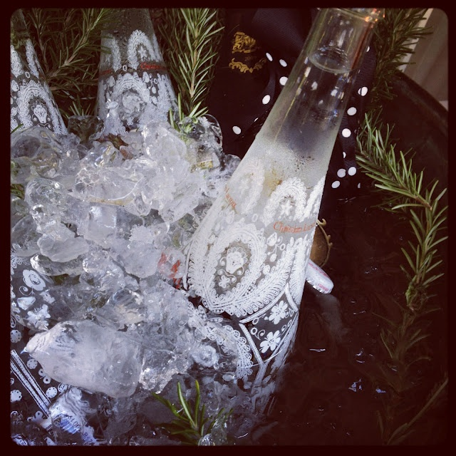 Christian Lacroix special edition glass bottles for Evian