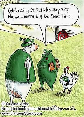 haha...GREEN EGGS and HAM