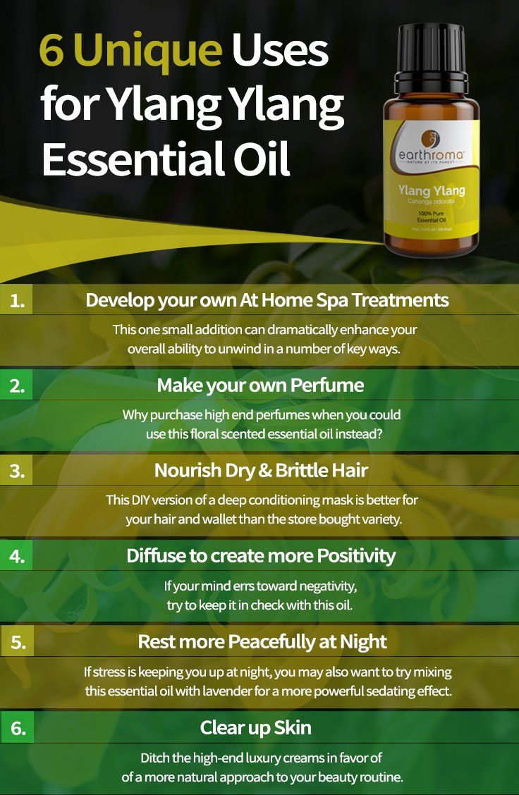 6 Unique Uses For Ylang Ylang Essential Oil Ylang Ylang Essential Oil Benefits Ylang Ylang Essential Oil Essential Oil Benefits