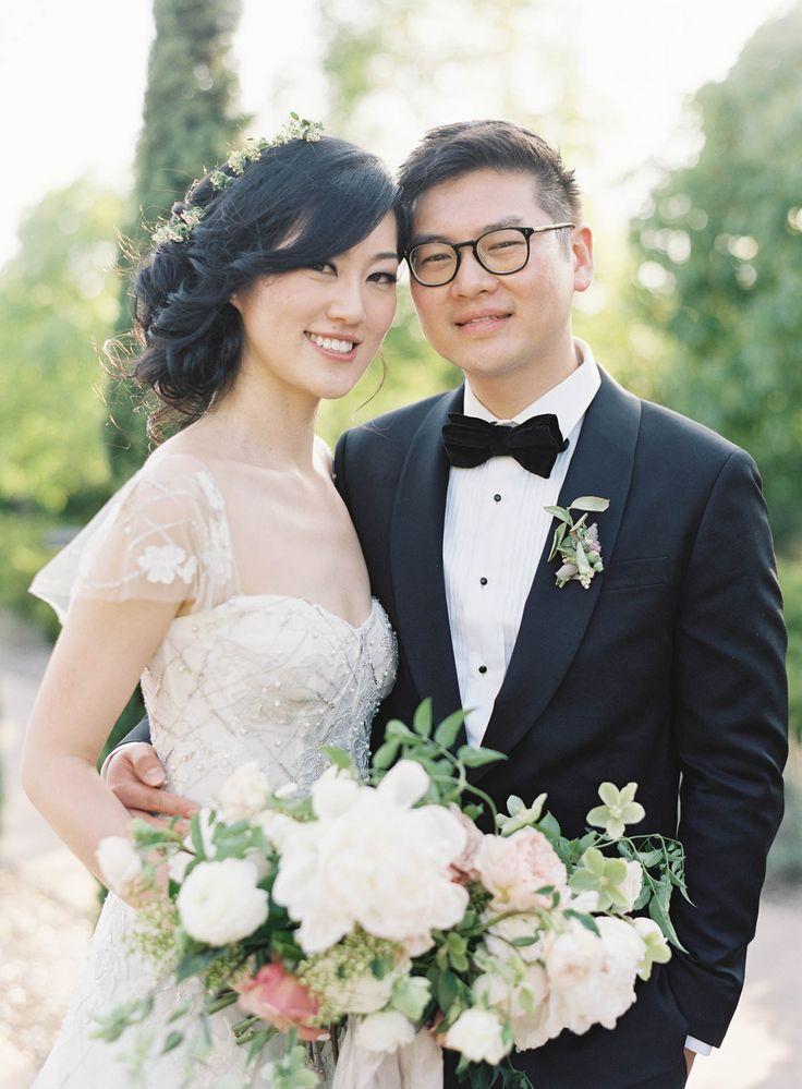 Jen Huang  Carneros Inn Wedding  Bride & Groom Formal Wedding Attire