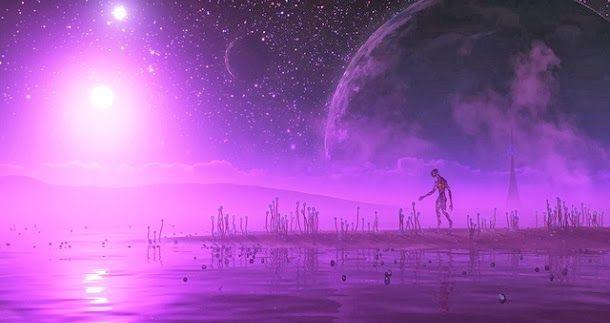 Quando a vida microbiana estava a surgir na Terra, a assinatura do nosso planeta parecia um ponto roxo no espaço. Agora cientistas procuram por planetas semelhantes.
