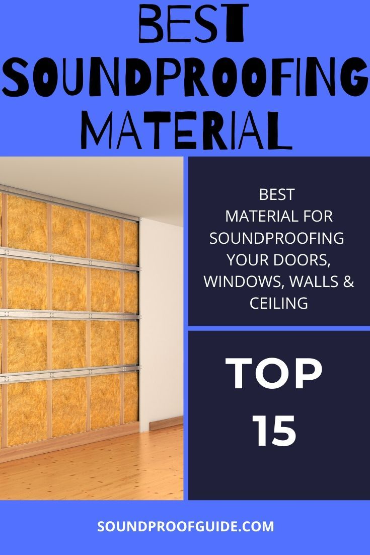 15 Best Soundproofing Materials For A Soundproof Home In 2020 With Images Soundproofing Material Sound Proofing Door Sweeps