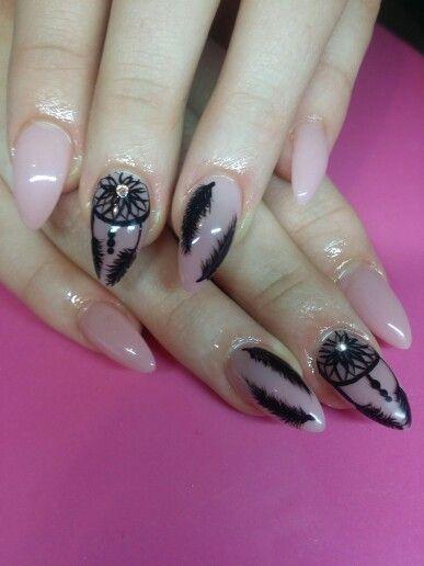 Łapacze snów #nails #dreamcatcher #łapaczsnów