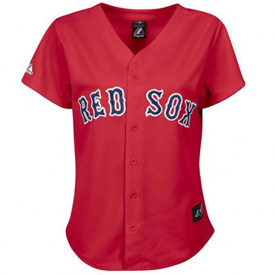 Boston Red Sox Women's Red MLB Alternate Replica Jersey (Majestic). The Sox are wicked good! #redsox #mlb #baseball