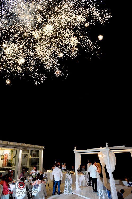 Wedding Fireworks - Santorini Greece