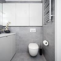 Toaleta EGO Koło,  Szara łazienka GALERIA ZDJĘĆ