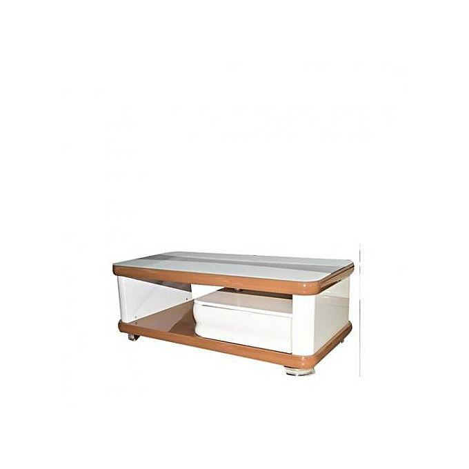 Sans Marque Table Basse Centrale En Bois Vernis Blanc Marron Clair Acheter En Ligne Jumia Cote D Ivoire Furniture Coffee Table Home Decor
