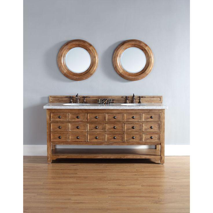 James Martin Brown 72-inch Double Bathroom Vanity - Overstock Shopping - Great Deals on Bathroom Vanities