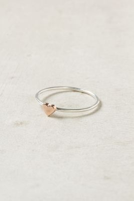 Such a sweet little ring. Anthropologie Wee Heart Ring, Rose Gold. $88.00. #cupidsfaves