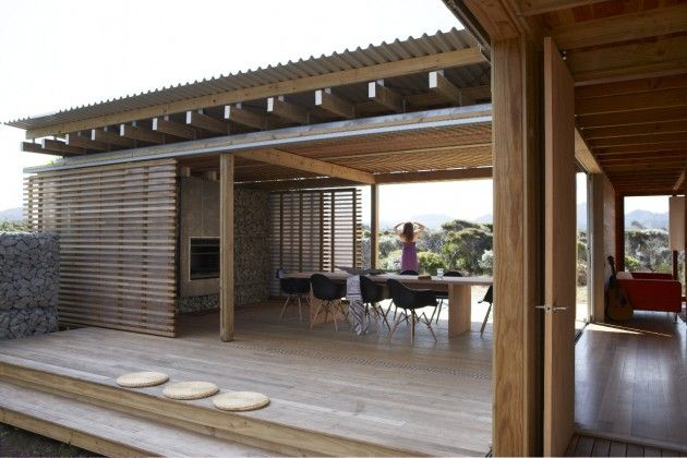 Moody light and shady verandahs on Great Barrier Island | Designhunter - architecture & design blog